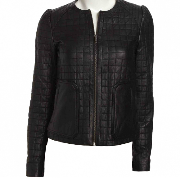 Joie Jackets & Blazers - Joie Yetta Quilted Leather Jacket
